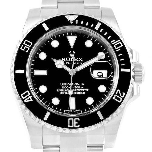Photo of Rolex Submariner 40 Cerachrom Bezel Black Dial Watch 116610 Box