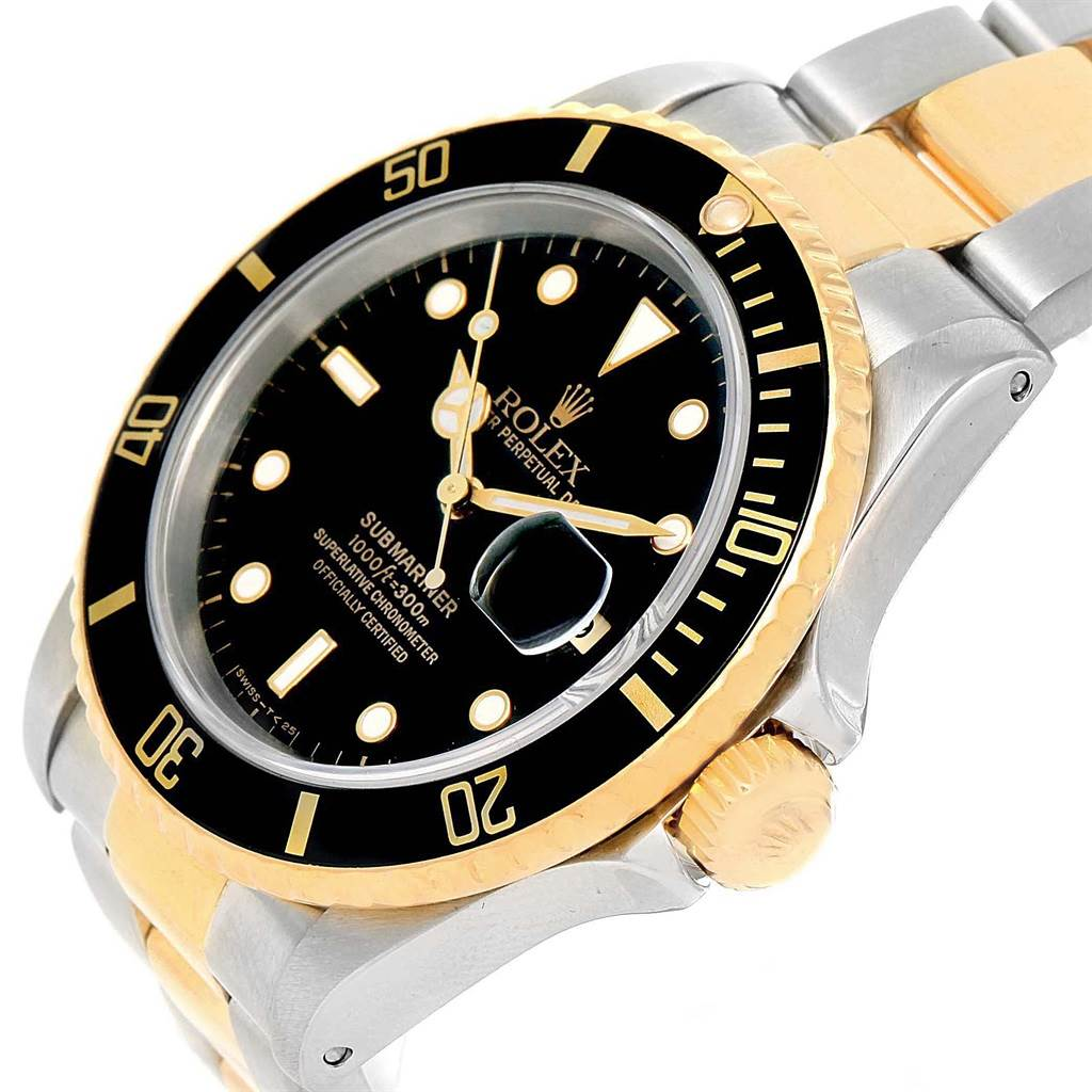 20723 Rolex Submariner 40 Two Tone Steel Yellow Gold Mens Watch 16613 SwissWatchExpo