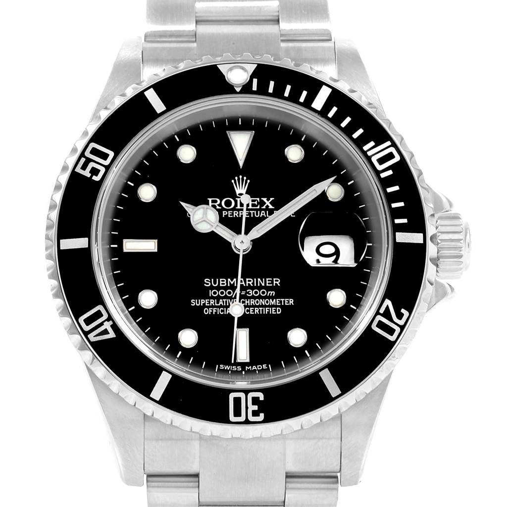 20726 Rolex Submariner 40mm Oyster Bracelet Automatic Mens Watch 16610 Box SwissWatchExpo