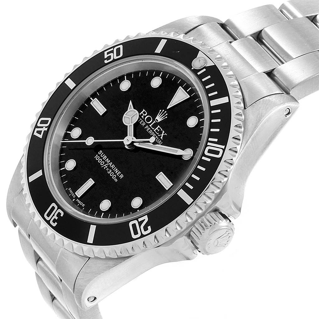 13467A Rolex Submariner Non-Date Stainless Steel Mens Watch 14060 SwissWatchExpo