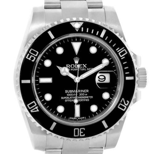 Photo of Rolex Submariner Ceramic Bezel Automatic Steel Mens Watch 116610