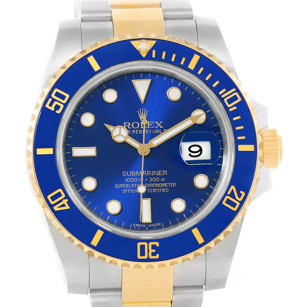 9f5c83747a7a ... 21346 Rolex Submariner 40 Blue Dial Steel Yellow Gold Automatic Watch  116613 SwissWatchExpo ...