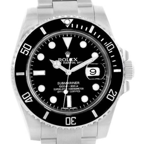 Photo of Rolex Submariner Cerachrom Bezel Steel Mens Watch 116610 Box Card