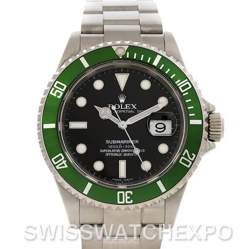 Photo of Rolex 50th Anniversary Green Submariner Steel Watch 16610V