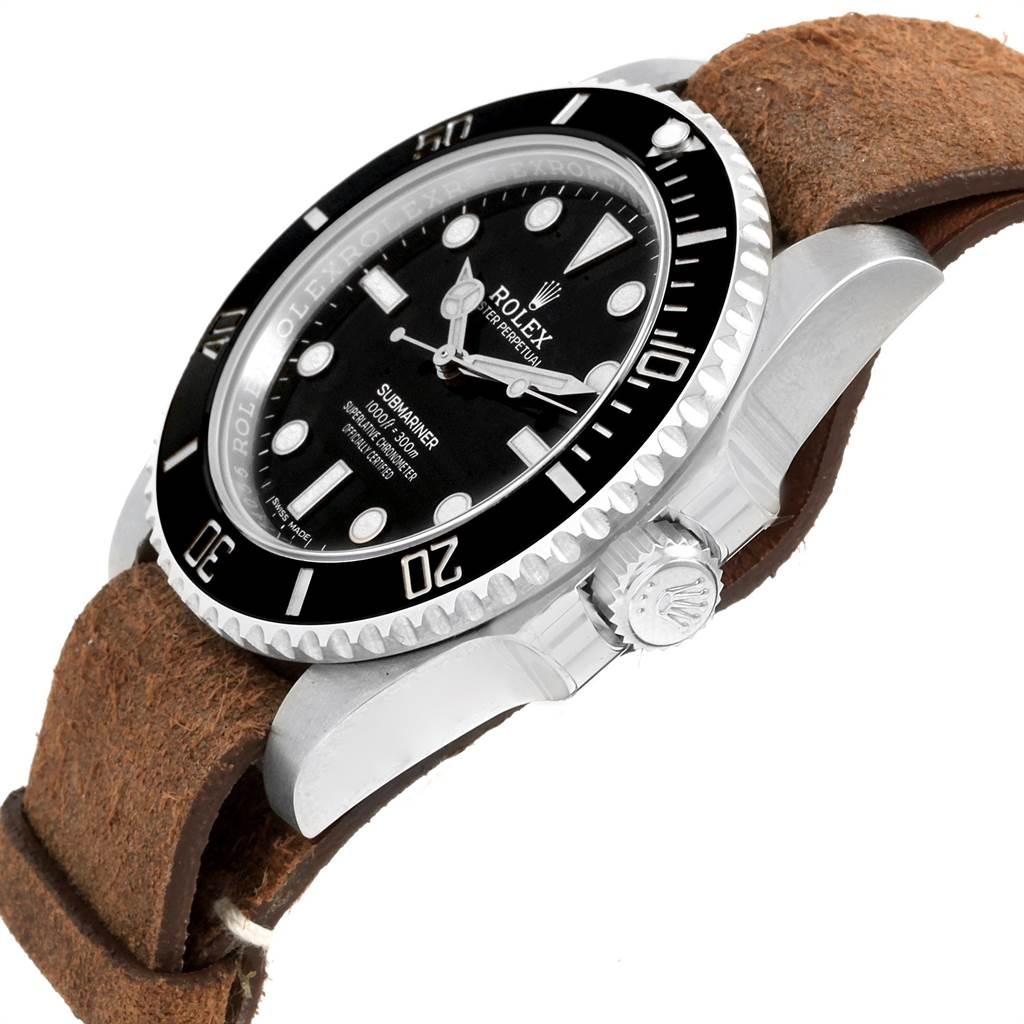 21621 Rolex Submariner Ceramic Bezel Steel Mens Watch 114060 Unworn SwissWatchExpo
