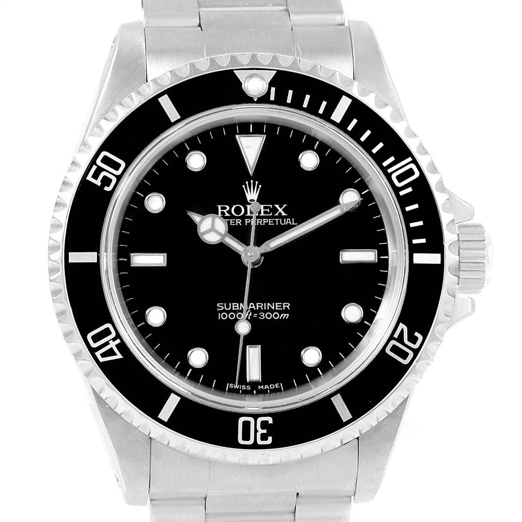 21694 Rolex Submariner 40 mm No-Date 2-Liner Mens Watch 14060 Box Papers SwissWatchExpo