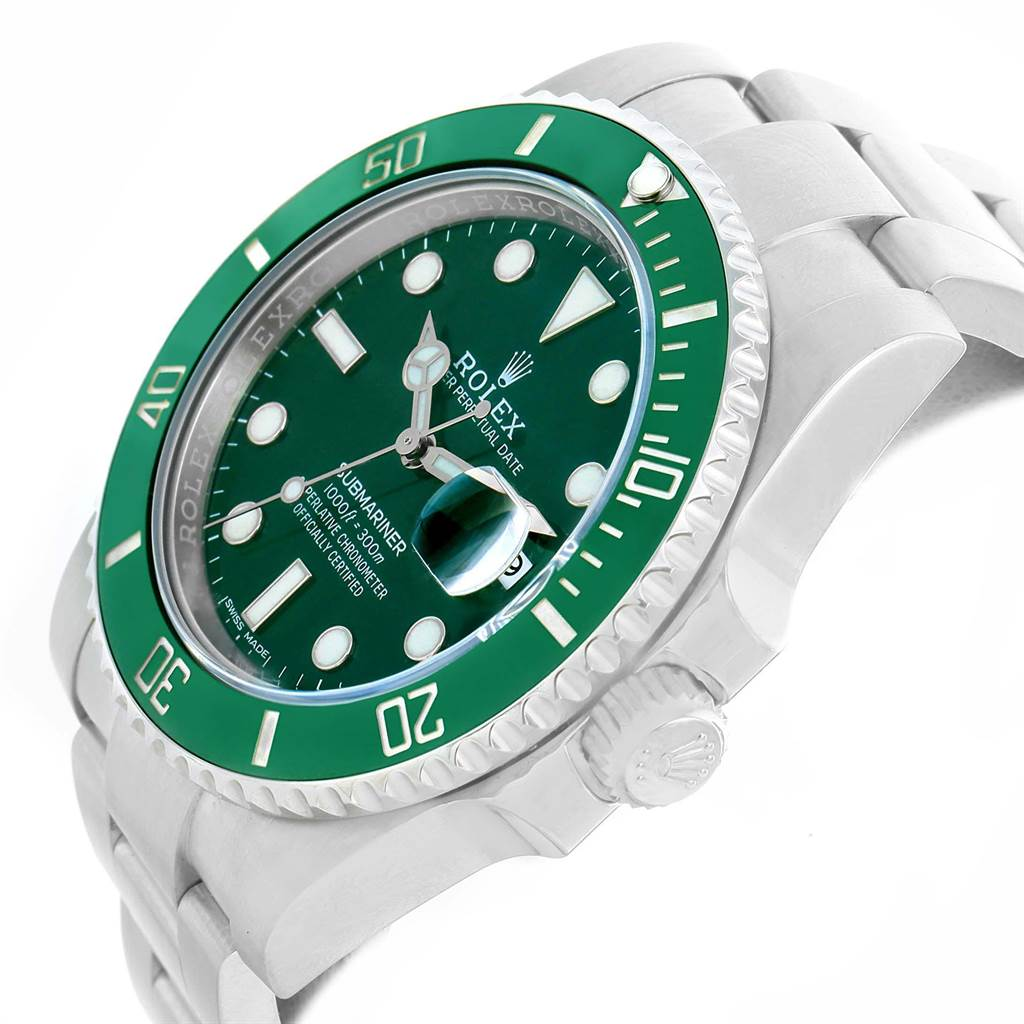 21721 Rolex Submariner Hulk Green Dial Bezel Mens Watch 116610LV Box Card SwissWatchExpo