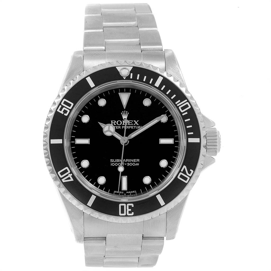 21696 Rolex Submariner 40 mm No-Date 2-Liner Mens Watch 14060 Box Papers SwissWatchExpo