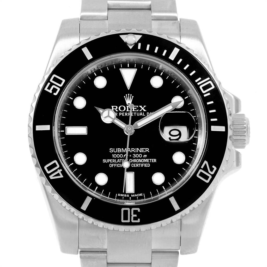 21612 Rolex Submariner 40 Cerachrom Bezel Black Dial Watch 116610 Box SwissWatchExpo