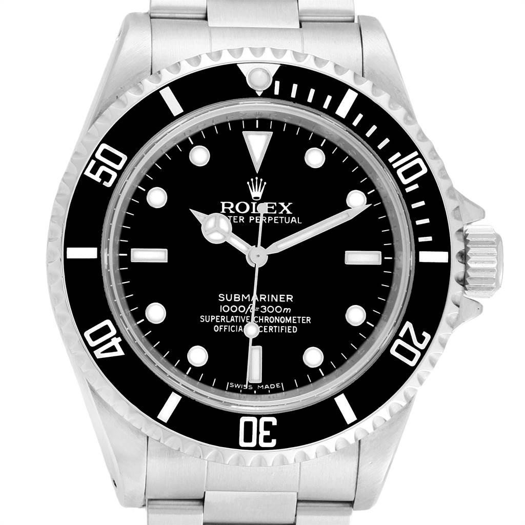Rolex Submariner No Date 4 Liner Steel Steel Mens Watch 14060