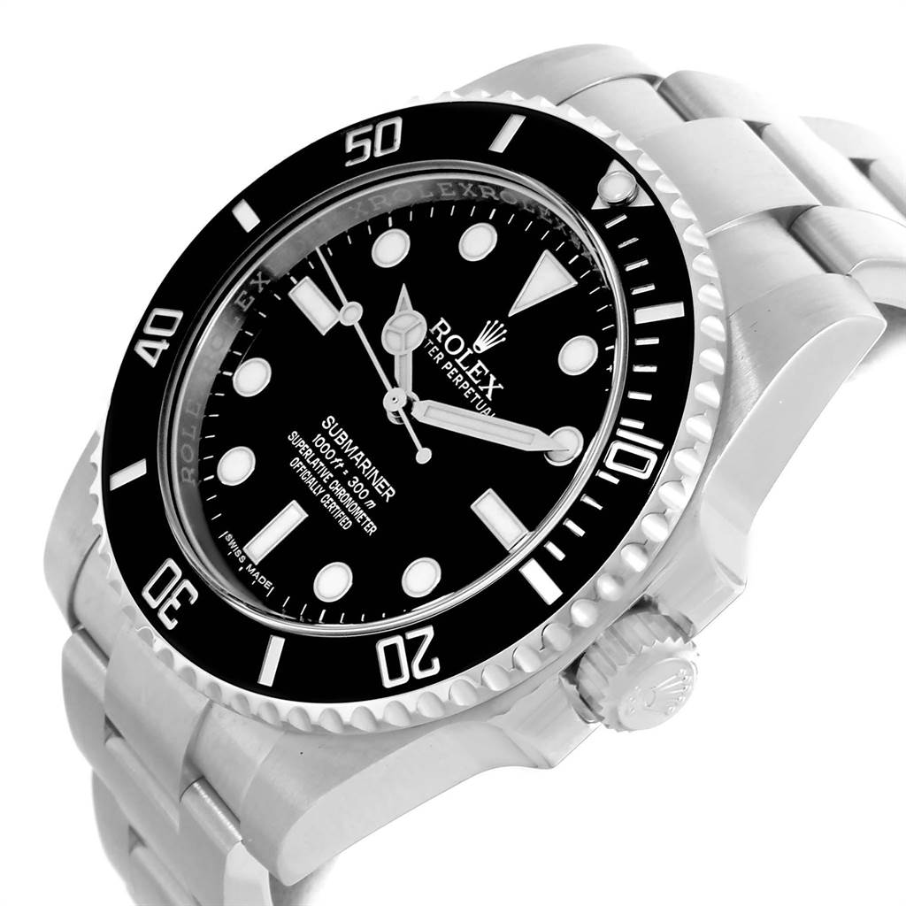 22200 Rolex Submariner Black Dial Ceramic Bezel Steel Mens Watch 114060 SwissWatchExpo