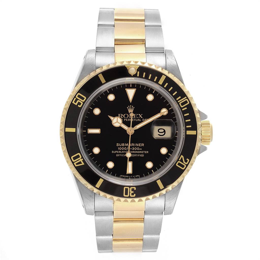 22355 Rolex Submariner Steel Yellow Gold Automatic Mens Watch 16613 SwissWatchExpo