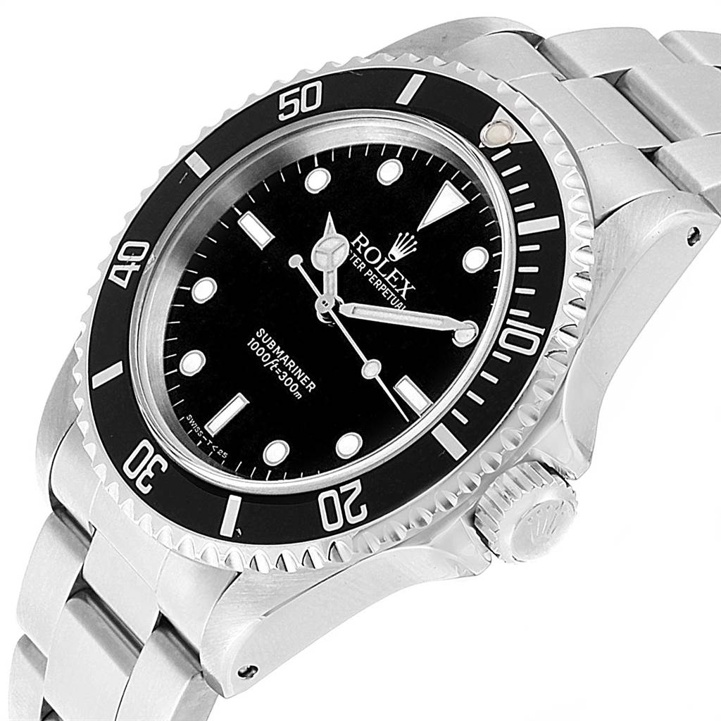 22141 Rolex Submariner 40mm 2-Liner Automatic Steel Mens Watch 14060 SwissWatchExpo