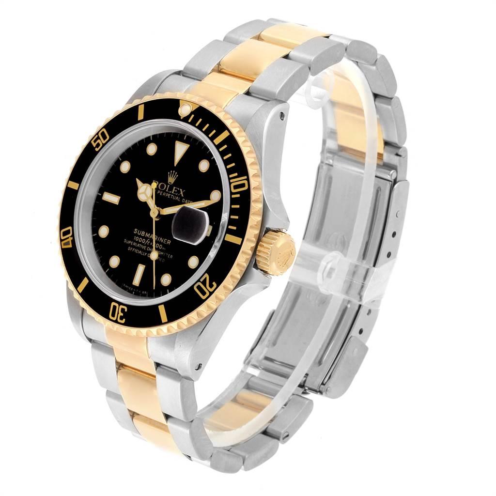22346 Rolex Submariner Steel Yellow Gold Oyster Bracelet Mens Watch 16613 SwissWatchExpo