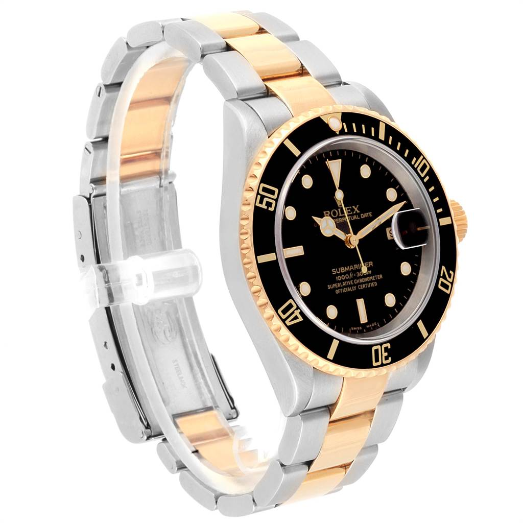 22415 Rolex Submariner Steel Yellow Gold Automatic Mens Watch 16613 SwissWatchExpo