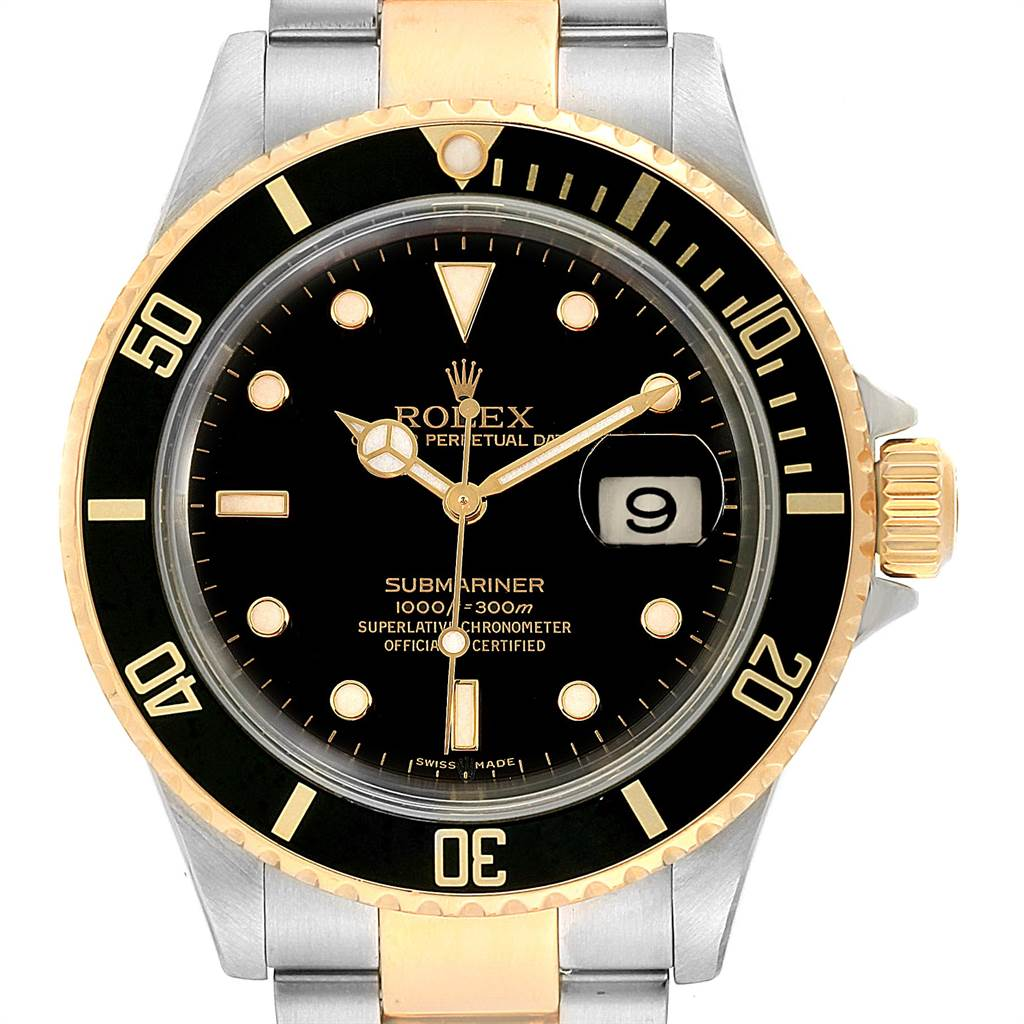 Rolex Submariner Steel Yellow Gold Automatic Mens Watch 16613 SwissWatchExpo