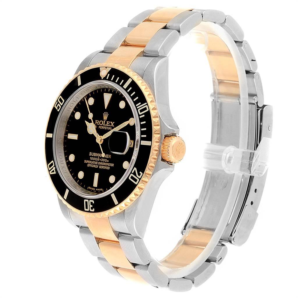 22445 Rolex Submariner Steel Yellow Gold Oyster Bracelet Mens Watch 16613 SwissWatchExpo