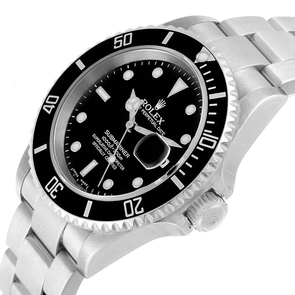 22502 Rolex Submariner Date Oyster Bracelet Automatic Steel Mens Watch 16610 SwissWatchExpo