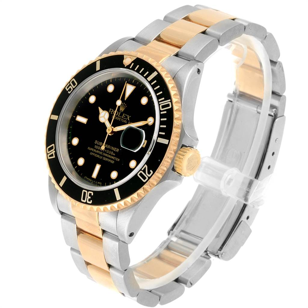 22345 Rolex Submariner Date Steel 18K Yellow Gold Mens Watch 16613 SwissWatchExpo