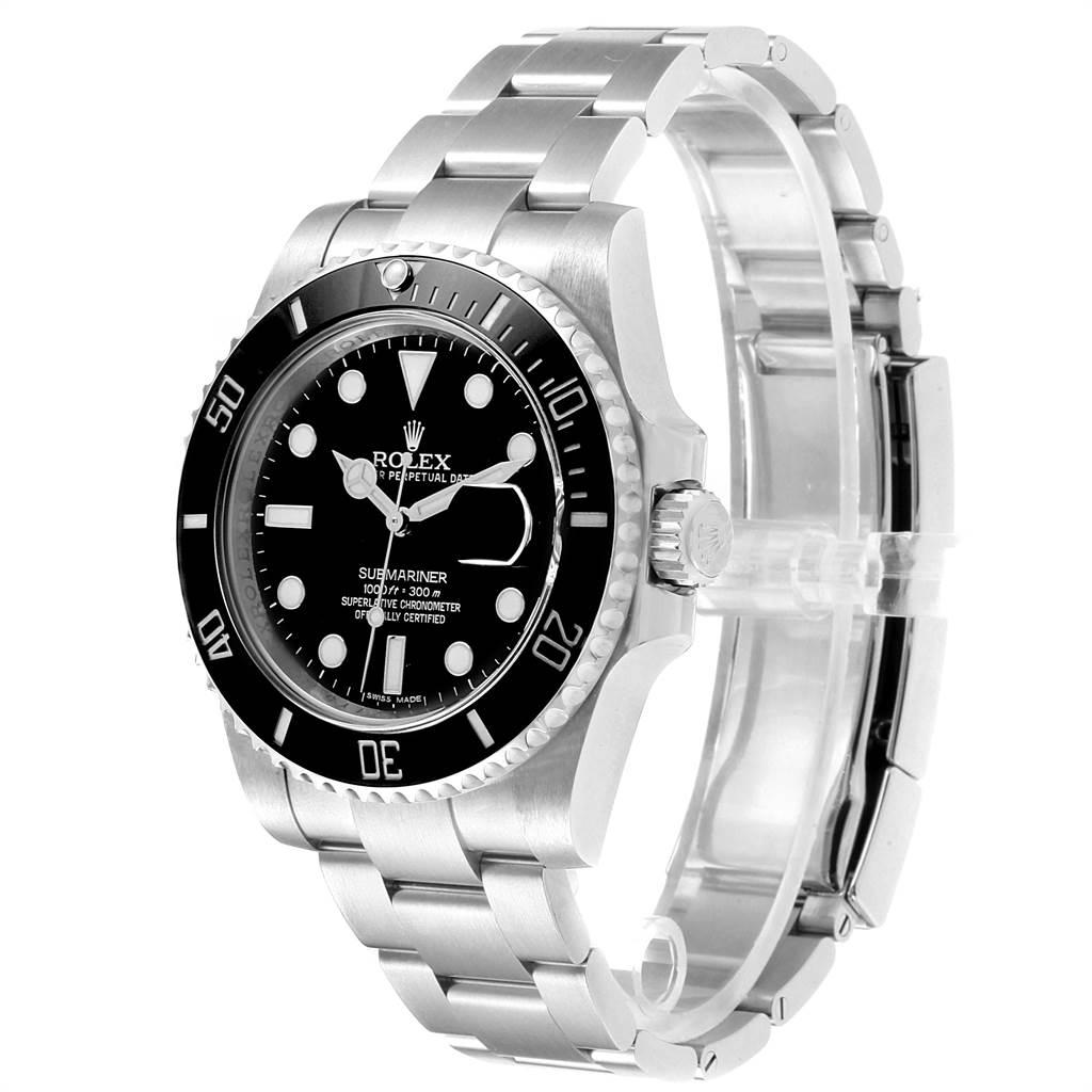 Rolex Submariner Ceramic Bezel Black Dial Steel Mens Watch 116610 SwissWatchExpo