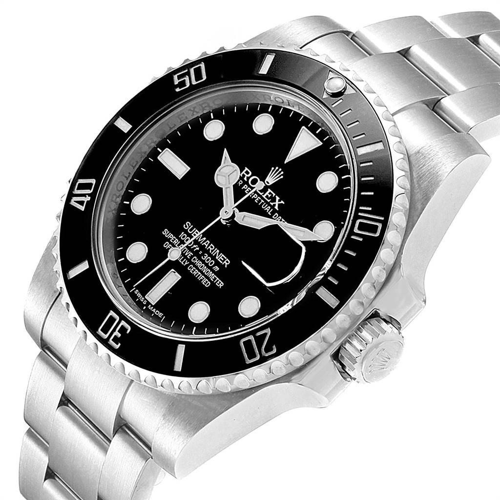 22576 Rolex Submariner Ceramic Bezel Black Dial Steel Mens Watch 116610 SwissWatchExpo