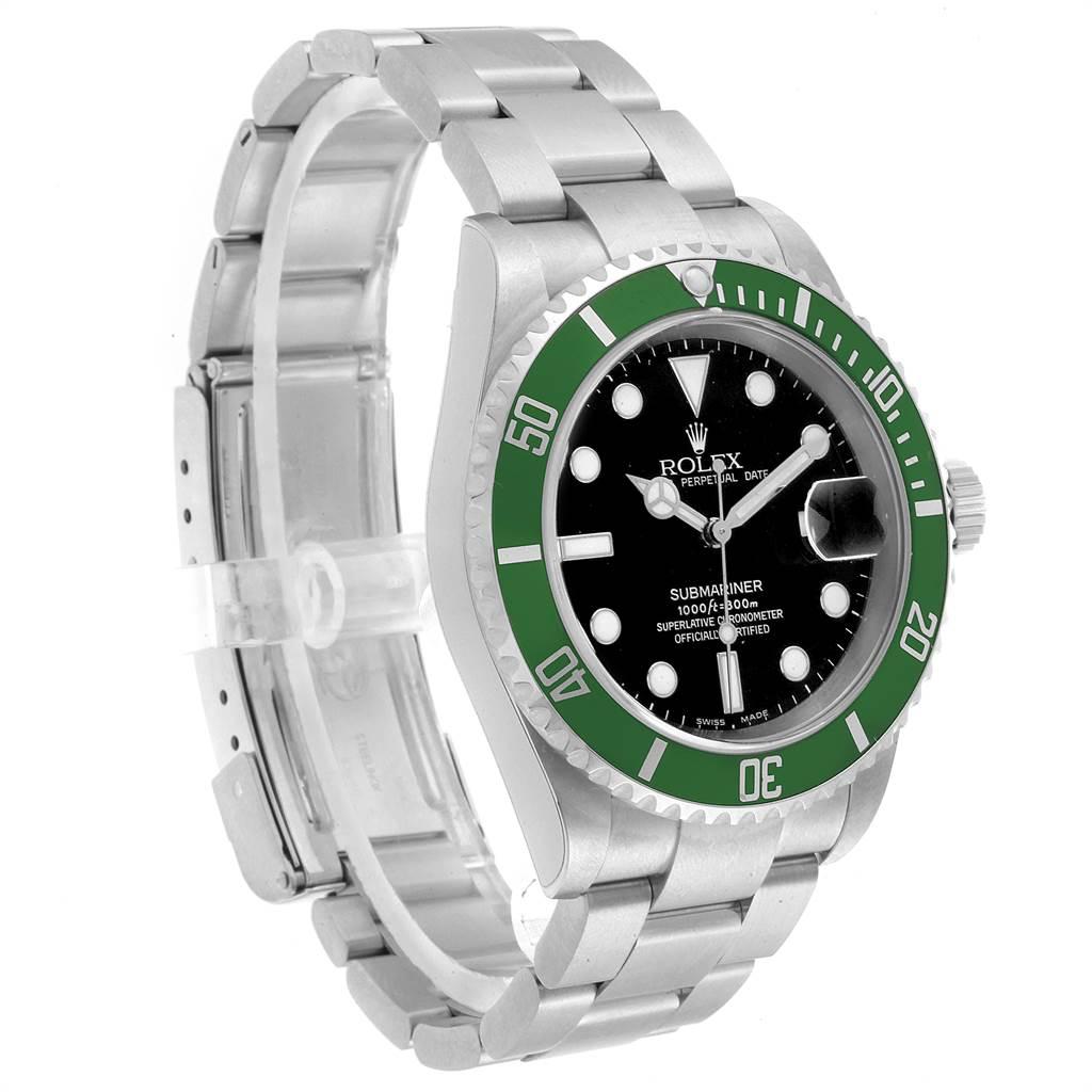 22987 Rolex Submariner 50th Anniversary Green Kermit Watch 16610LV Unworn SwissWatchExpo