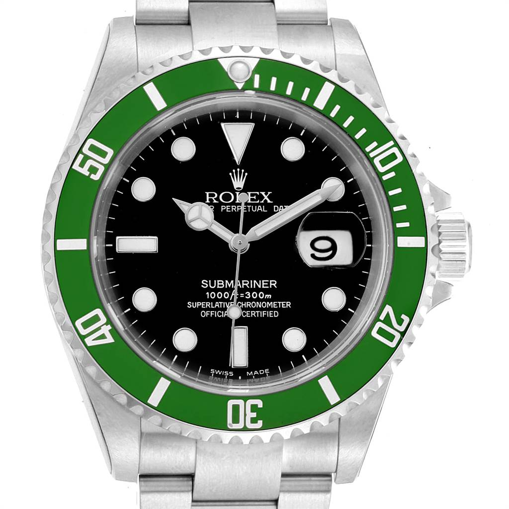 22987 Rolex Submariner 50th Anniversary Green Kermit Watch 16610LV Unworn SwissWatchExpo
