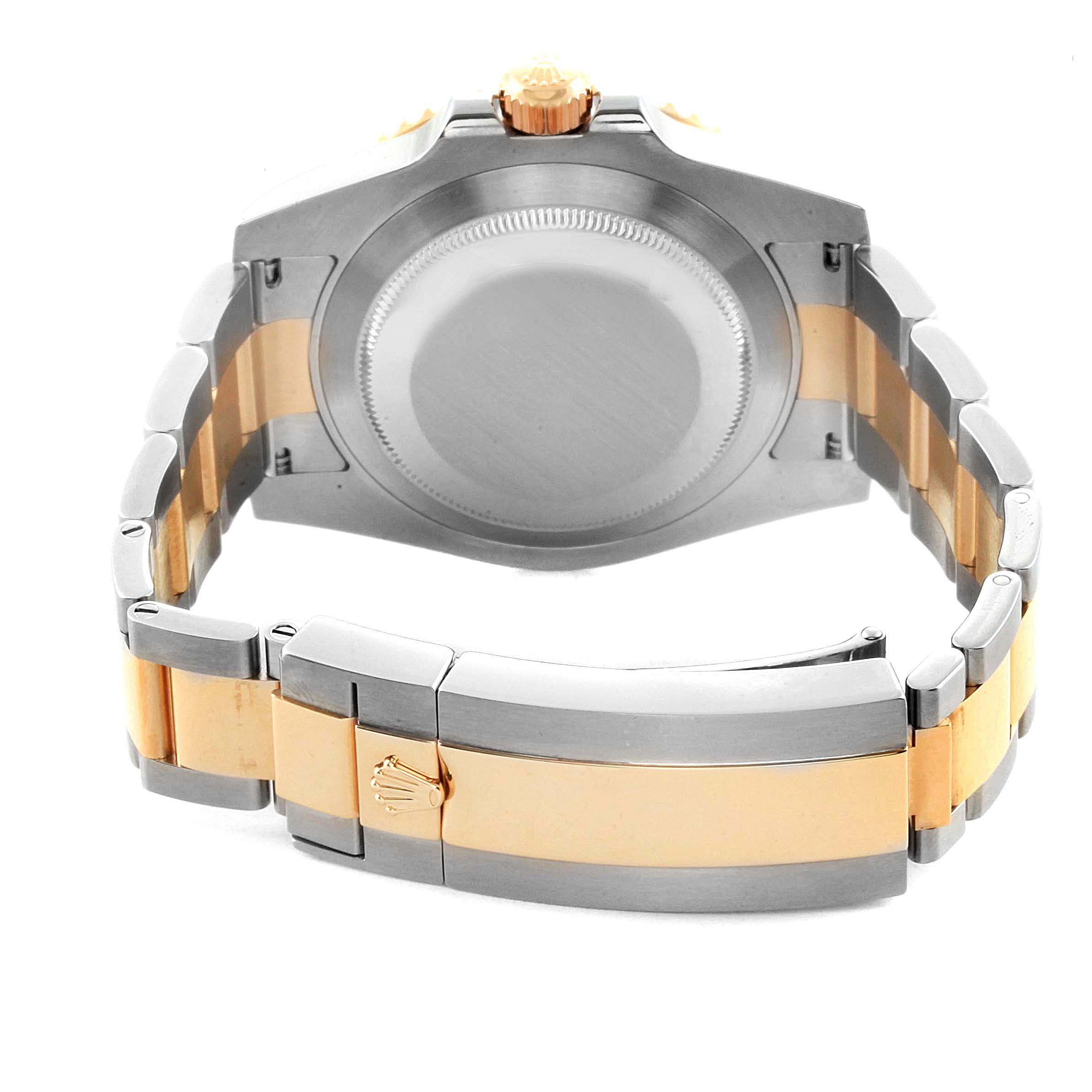 Rolex Submariner Steel 18K Yellow Gold Black Diamond Dial Watch 116613 SwissWatchExpo