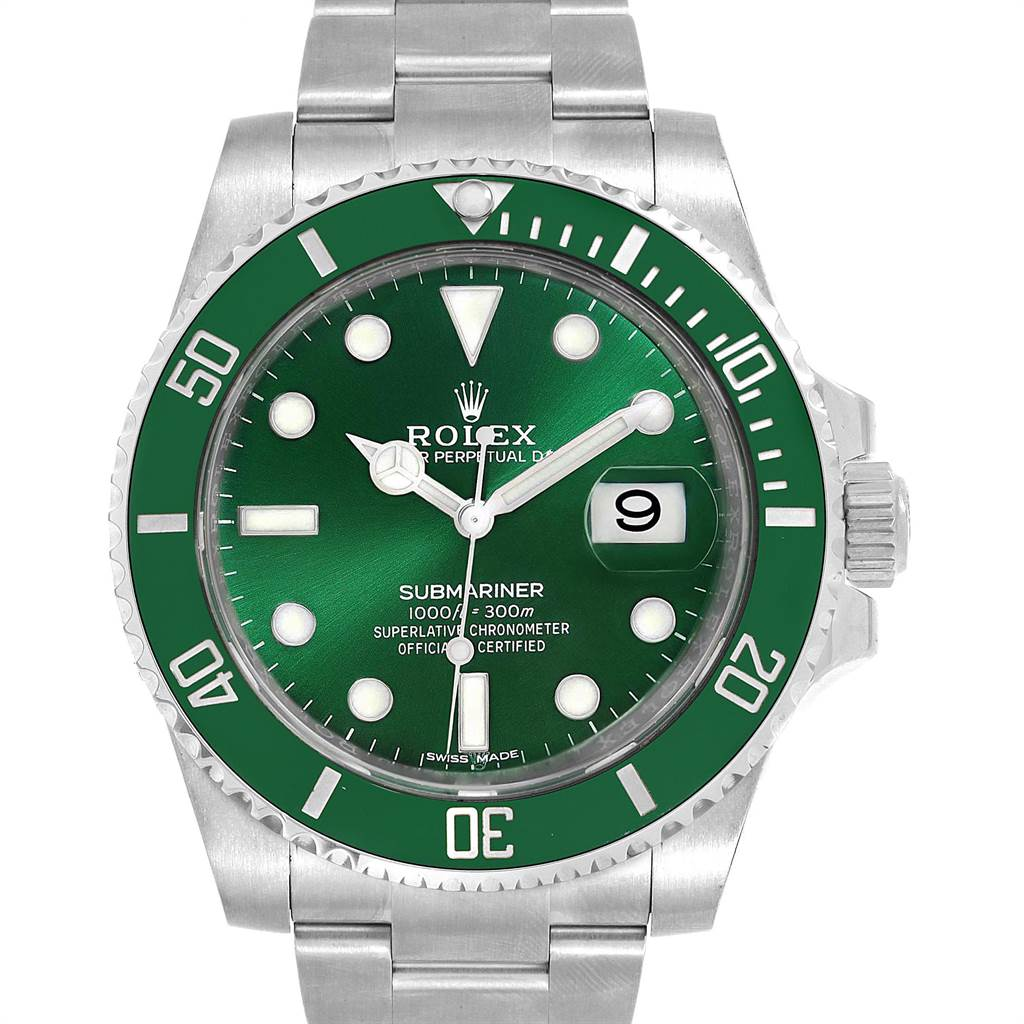 Rolex Submariner Hulk Green Dial Bezel Steel Mens Watch 116610LV SwissWatchExpo