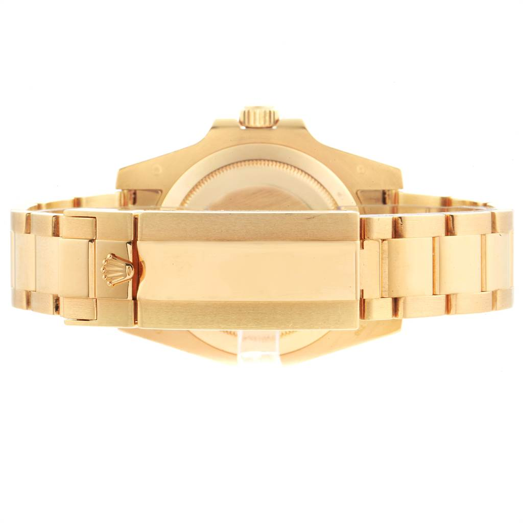 Rolex Submariner Black Dial Yellow Gold Mens Watch 116618 Box SwissWatchExpo