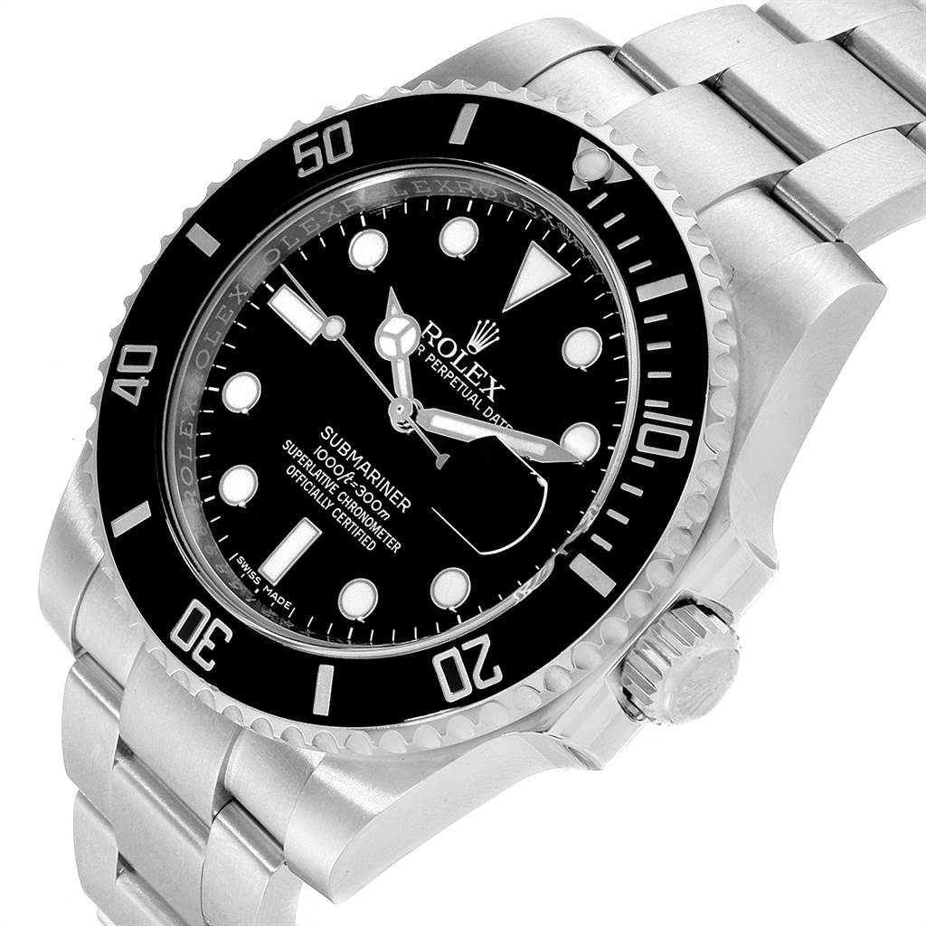 22669 Rolex Submariner Ceramic Bezel Black Dial Steel Mens Watch 116610 SwissWatchExpo