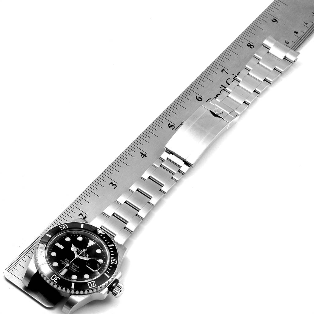 Rolex Submariner Ceramic Bezel Black Dial Steel Mens Watch 116610 SwissWatchExpo