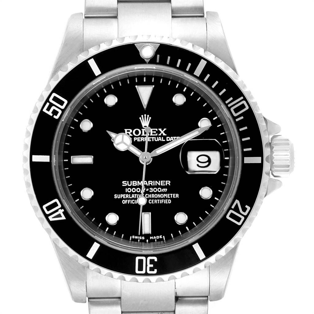 22767 Rolex Submariner 40mm Black Dial Steel Mens Watch 16610 Box SwissWatchExpo