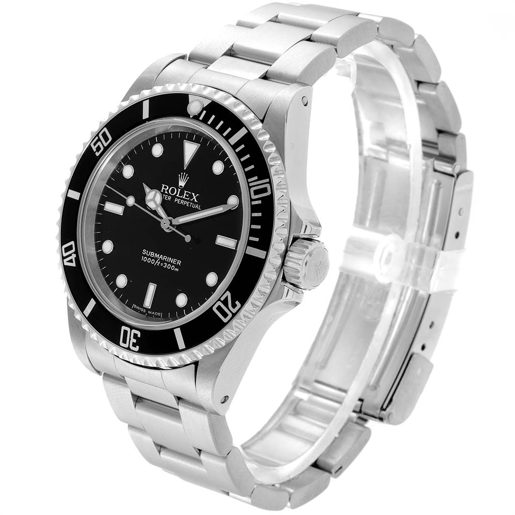 23280 Rolex Submariner 40mm Non-Date 2 Liner Steel Steel Mens Watch 14060 SwissWatchExpo