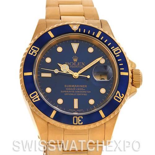 Photo of Rolex Submariner 16618 18k Yellow Gold 2002