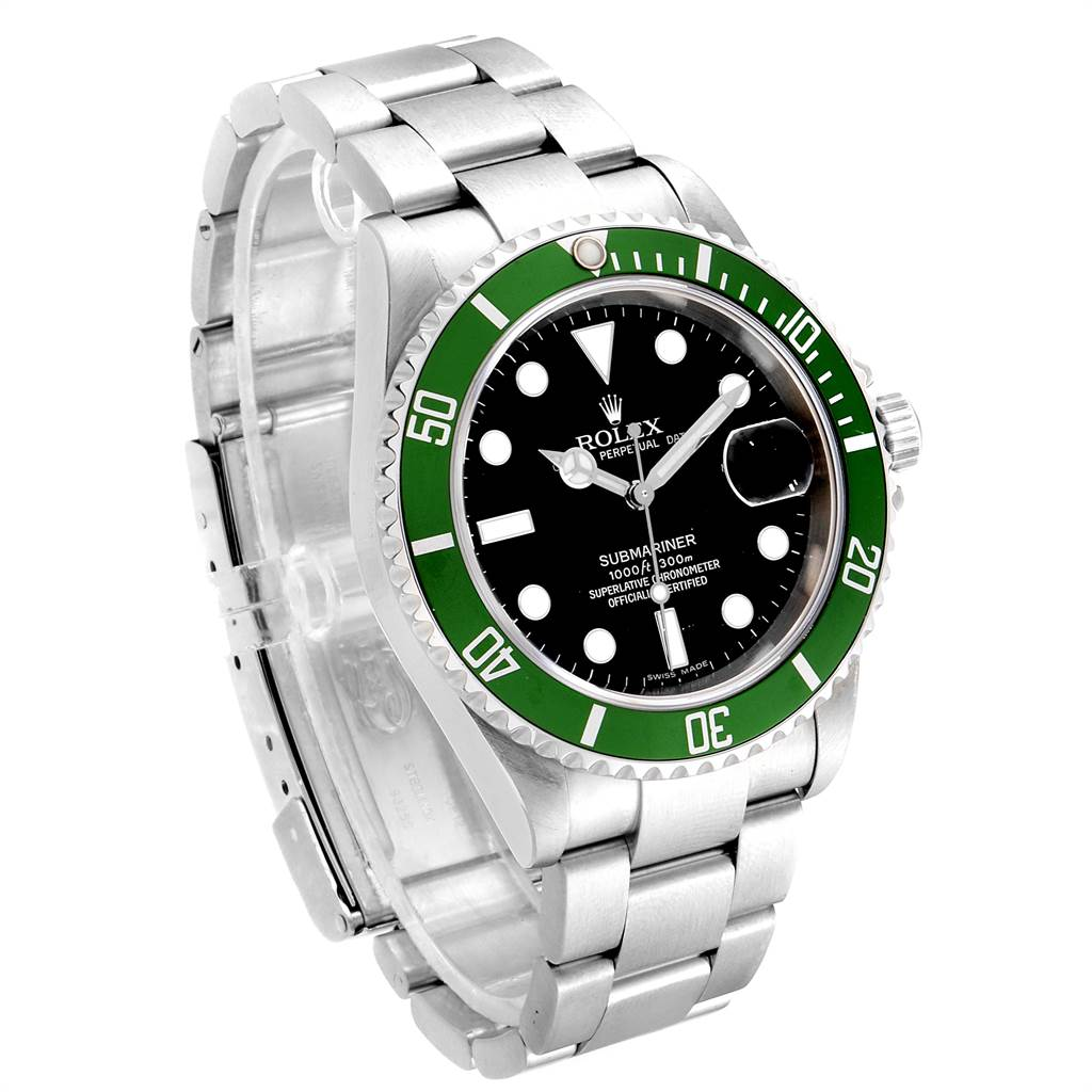23774 Rolex Submariner 50th Anniversary Green Kermit Mens Watch 16610LV SwissWatchExpo