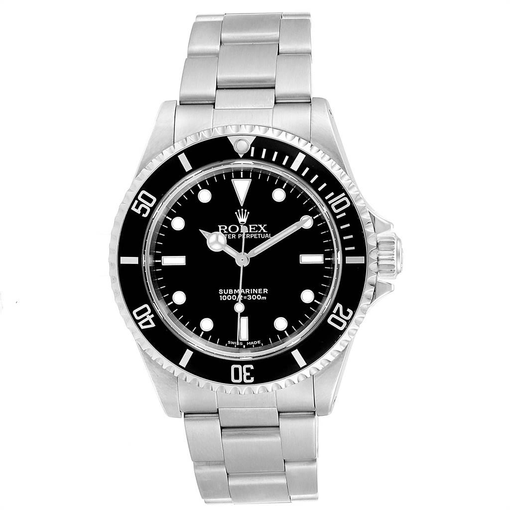 23785 Rolex Submariner 40mm Non-Date 2 Liner Steel Steel Mens Watch 14060 SwissWatchExpo