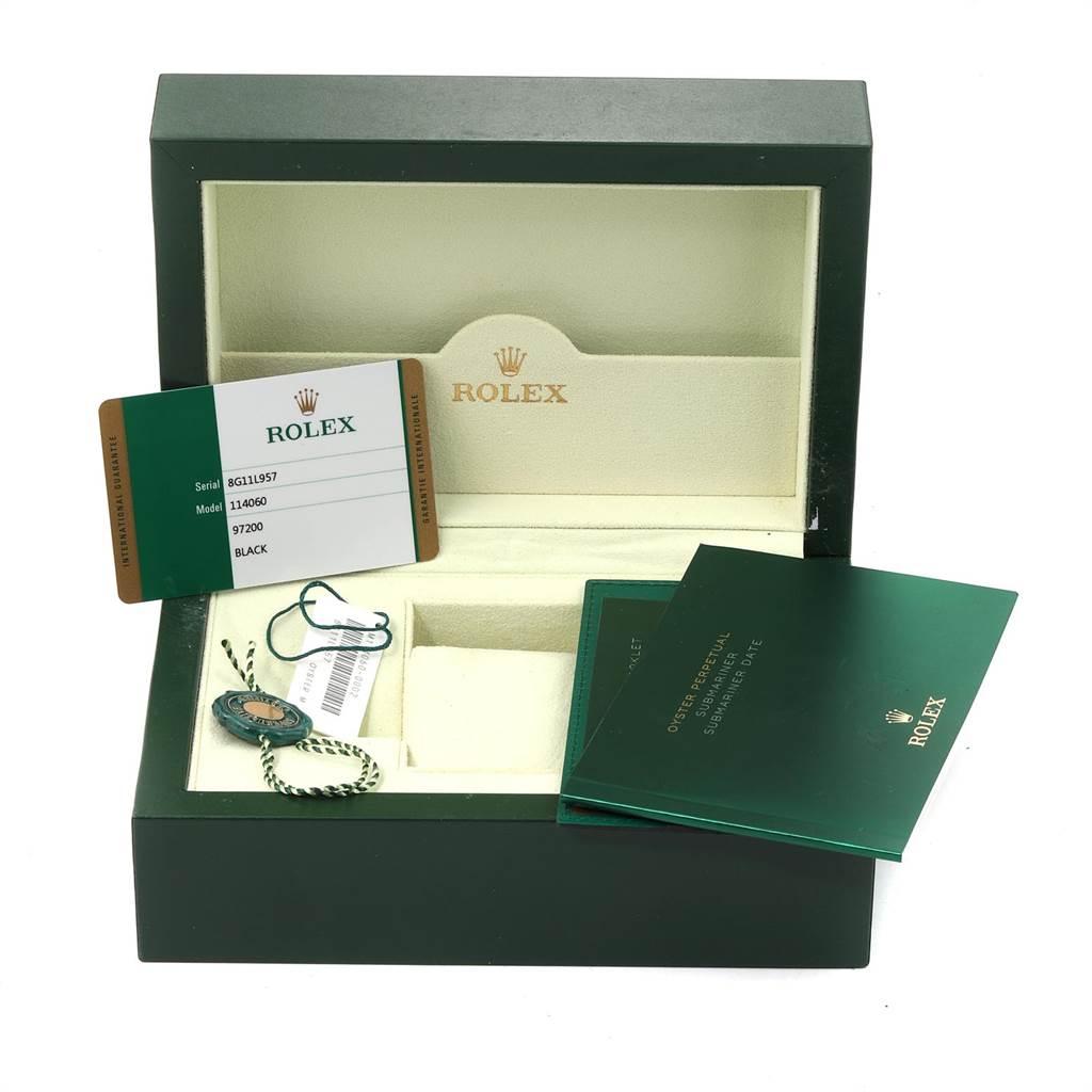 23918 Rolex Submariner 40mm Ceramic Bezel Steel Watch 114060 Box Card SwissWatchExpo