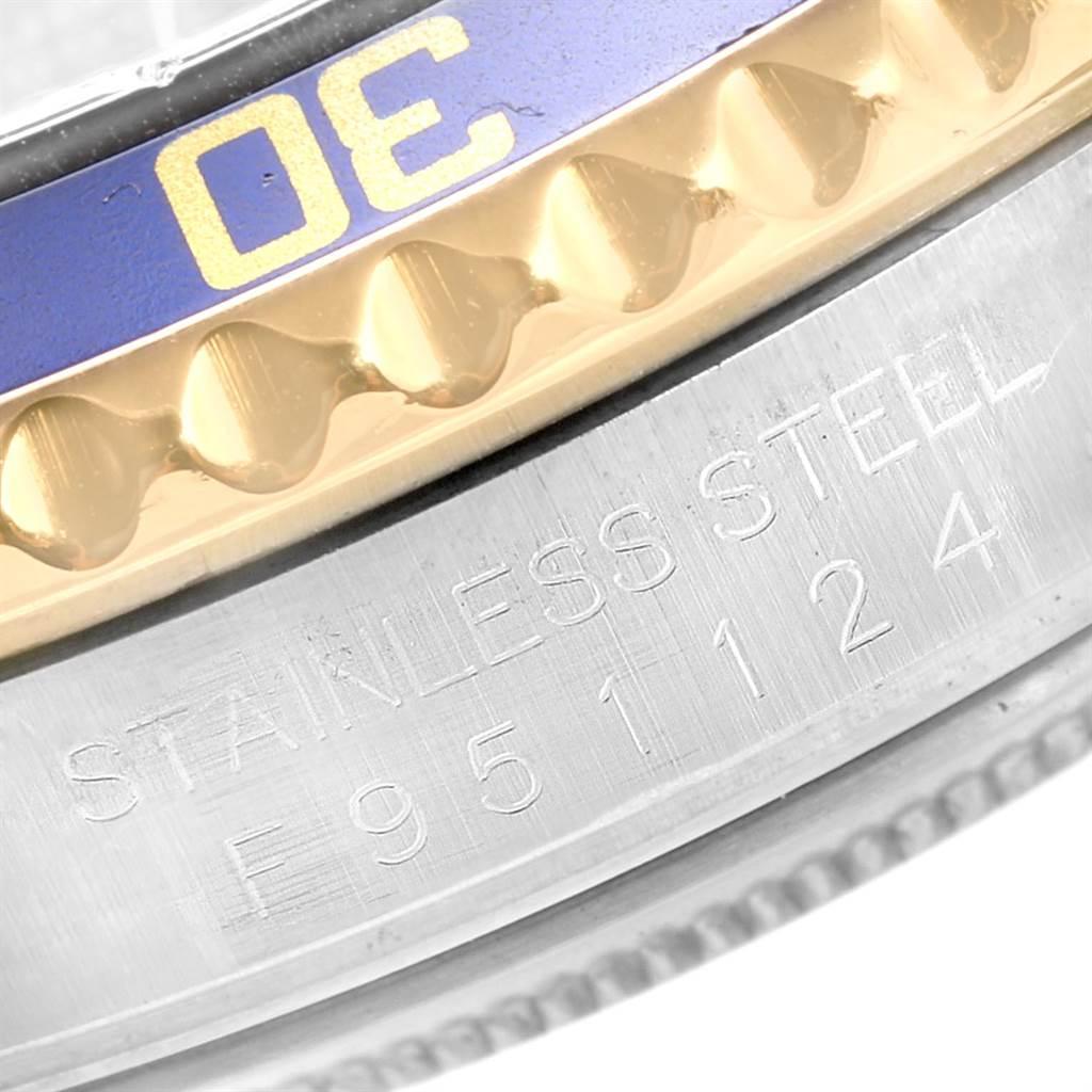 Rolex Submariner Blue Dial Bezel Steel Yellow Gold Mens Watch 16613 SwissWatchExpo