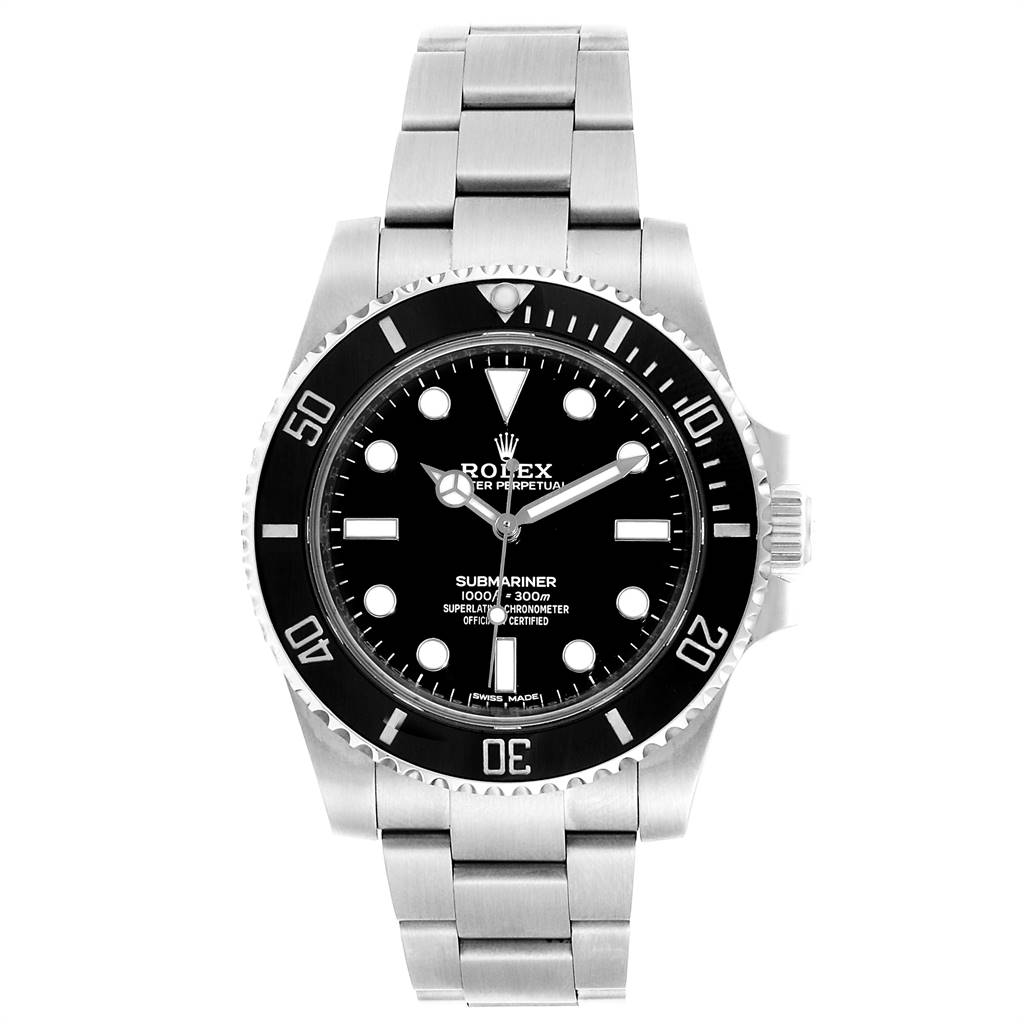 23894 Rolex Submariner 40mm Ceramic Bezel Steel Watch 114060 Box Card SwissWatchExpo