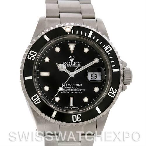 Photo of Rolex Submariner Mens Ss Watch 16610 Year 2001-2002