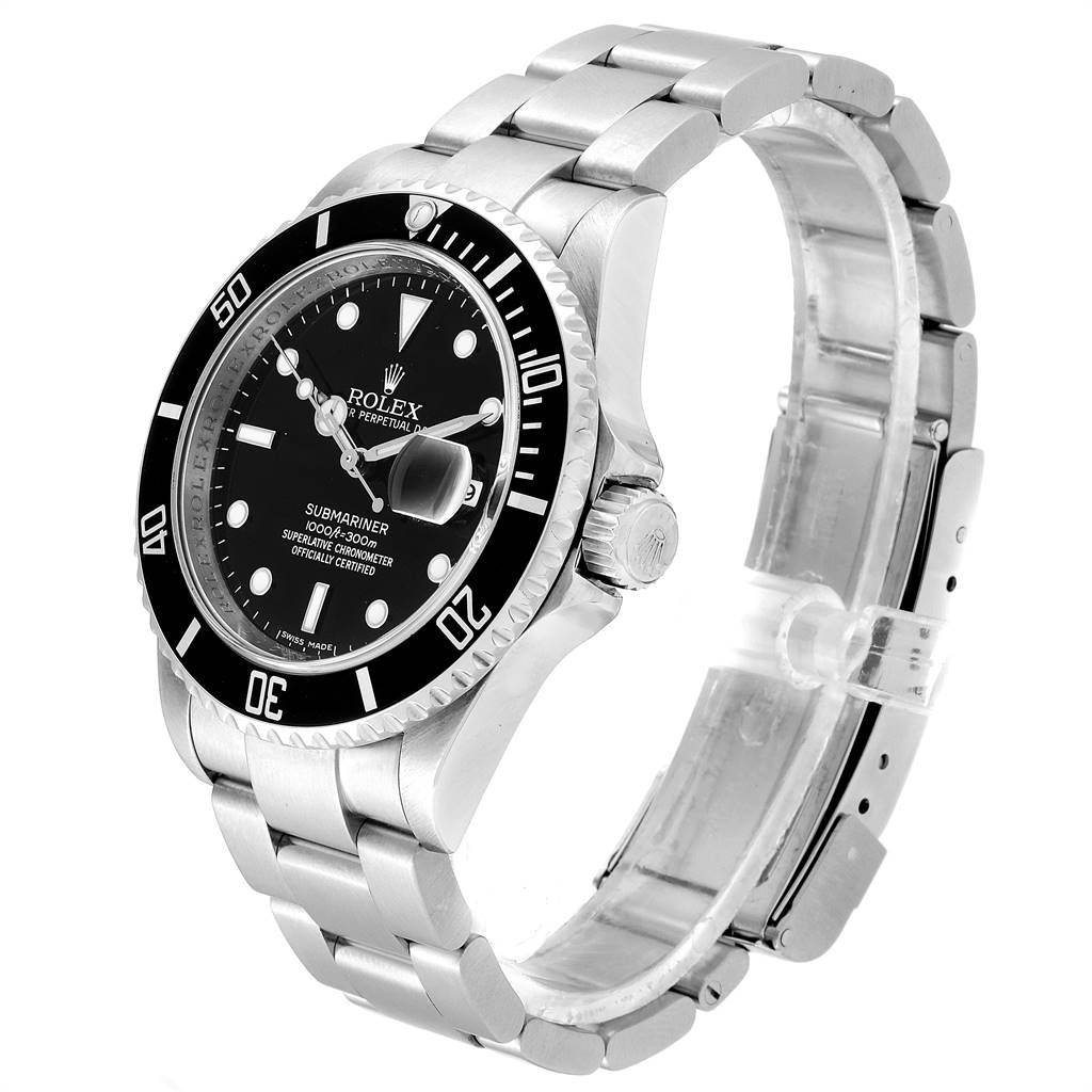 Rolex Submariner Date 40 Stainless Steel Automatic Mens Watch 16610 SwissWatchExpo