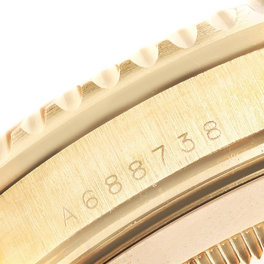 Rolex Submariner 18K Yellow Gold Blue Dial 40mm Mens Watch 16618 SwissWatchExpo