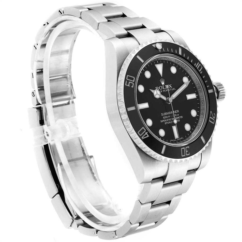 Rolex Submariner 40mm Ceramic Bezel Steel Watch 114060 Box Card SwissWatchExpo