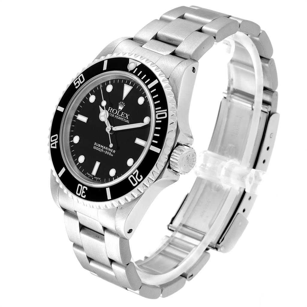 Rolex Submariner 40mm Non-Date 2 Liner Steel Steel Mens Watch 14060 SwissWatchExpo