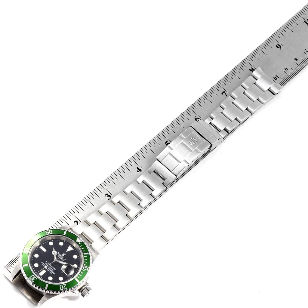 24453 Rolex Submariner 50th Anniversary Green Kermit Mens Watch 16610LV SwissWatchExpo