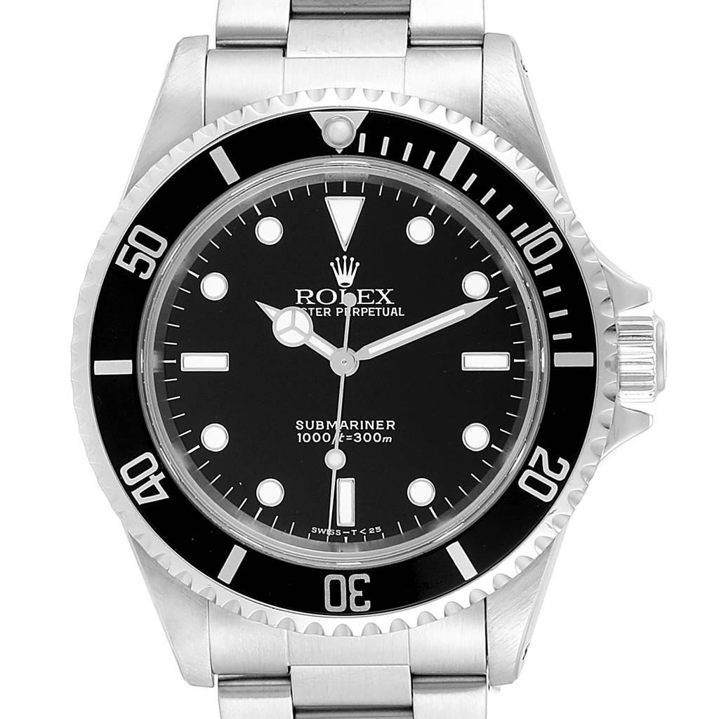 24670 Rolex Submariner 40mm Non-Date 2 Liner Steel Steel Mens Watch 14060 SwissWatchExpo