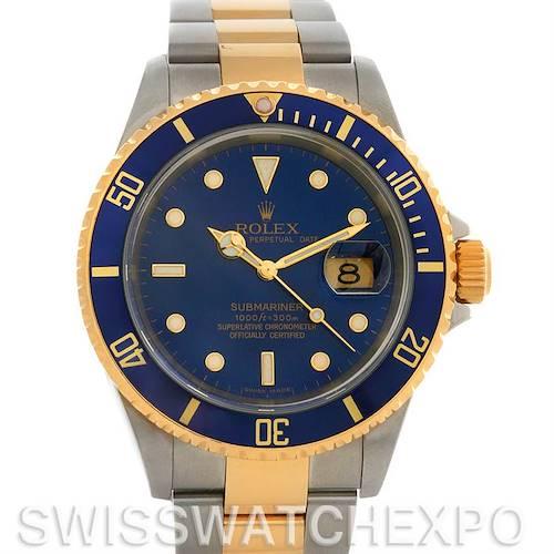 Photo of Rolex Submariner 16613 SS/18k Yellow Gold 16613 yr 2006