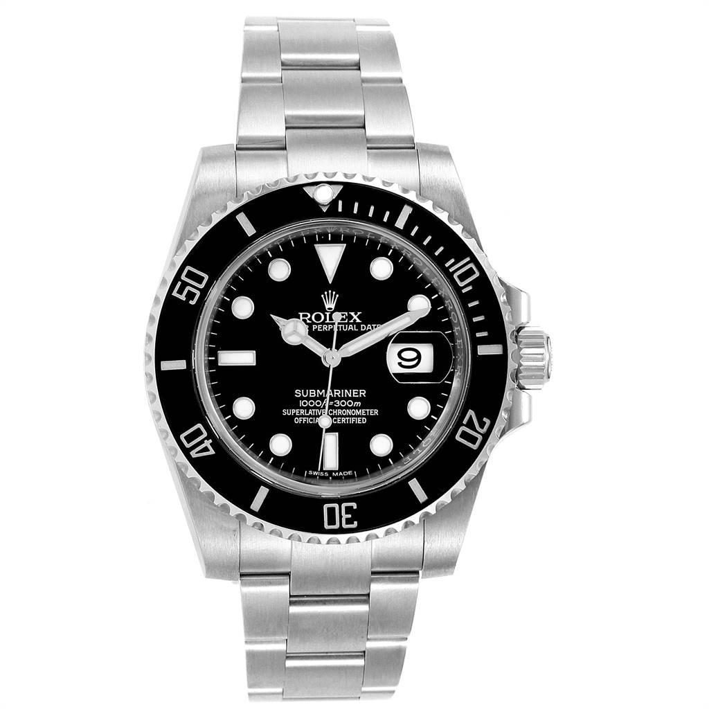 Rolex Submariner Ceramic Bezel Black Dial Steel Mens Watch 116610 Box Card SwissWatchExpo