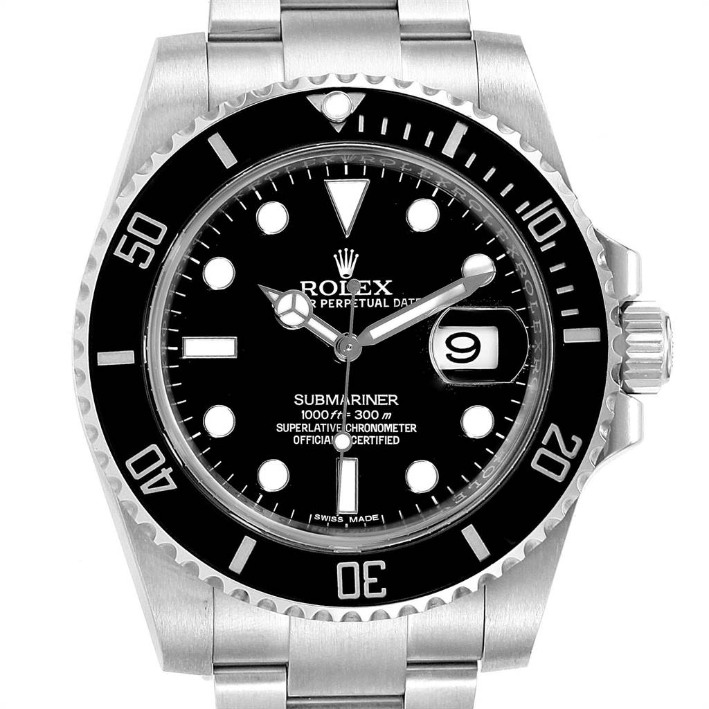 Rolex Submariner Ceramic Bezel Black Dial Steel Mens Watch 116610 Box Card